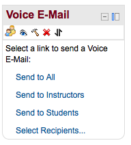 Voice E-Mail Menu
